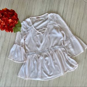 Mossimo cream top XS